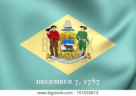 Flag Of Delaware, Usa.