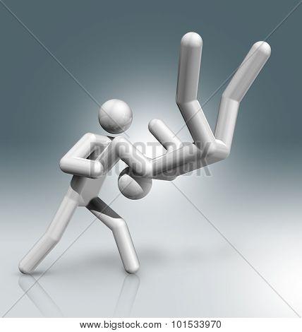 Judo 3D Symbol, Olympic Sports