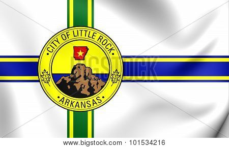 Flag Of Little Rock (arkansas), Usa.