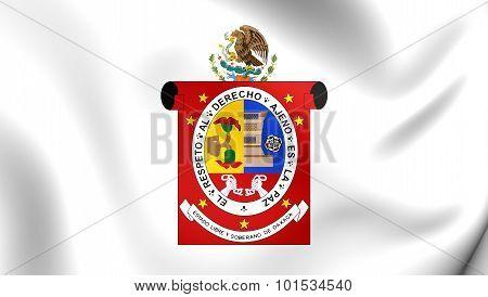 Flag Of Oaxaca State, Mexico.