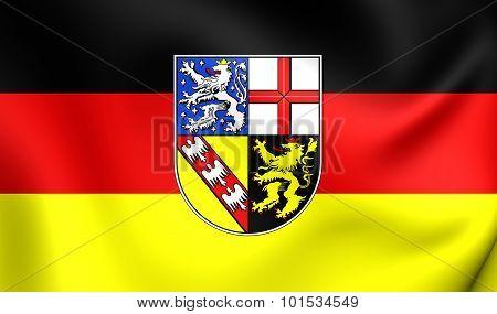 Flag Of Saarland, Germany.