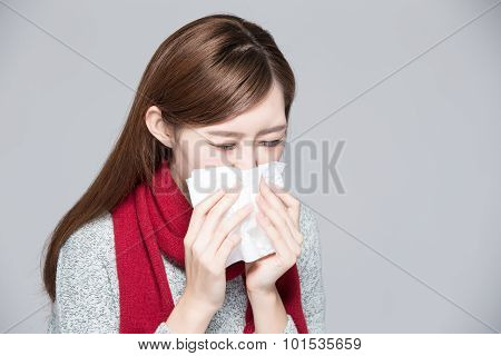 A Woman Catches A Cold