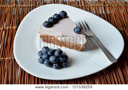 Yogurt Cake With Blueberries And Biscuit Base