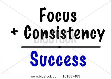Focus + Consistency = Success