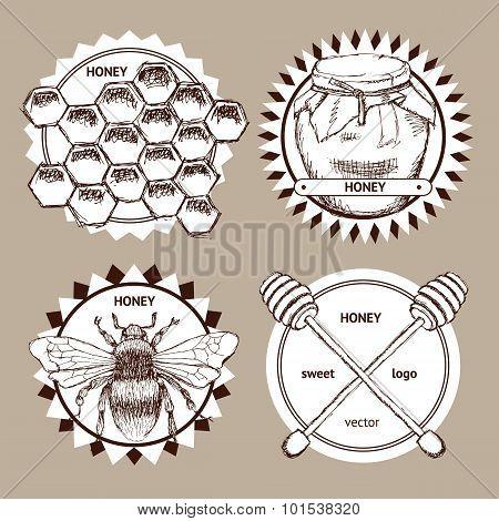 Sketch Honey Logotypes