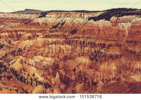 Cedar Breaks in autumn season,Utah, USA.