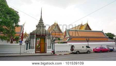 The main gate of Wat Pho in Bangkok Thailand