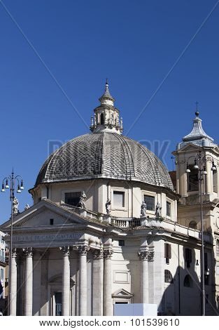 Rome. Italy. church on Piazza del Popolo