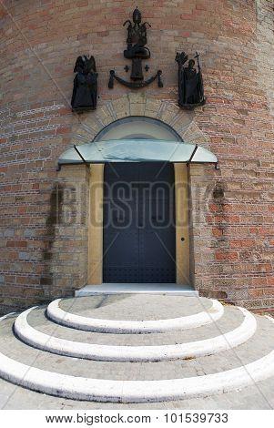 VATICAN- SEPTEMBER 20: gate in Saint Ioann's tower at the Vatican Gardens on September 20 2010 in Va
