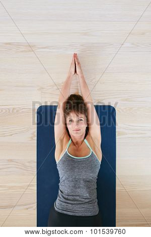 Woman Doing Stretching Exercise