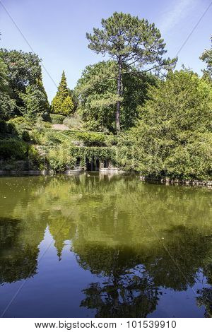 Porto, Portugal - July 05, 2015: Serralves Gardens, A Green Park whit Over 18 Hectares in Porto