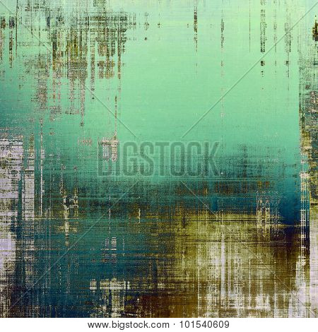 Old texture with delicate abstract pattern as grunge background. With different color patterns: blue; brown; gray; green