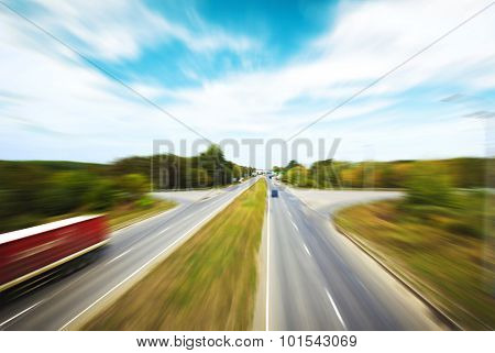 Blured asphalt road
