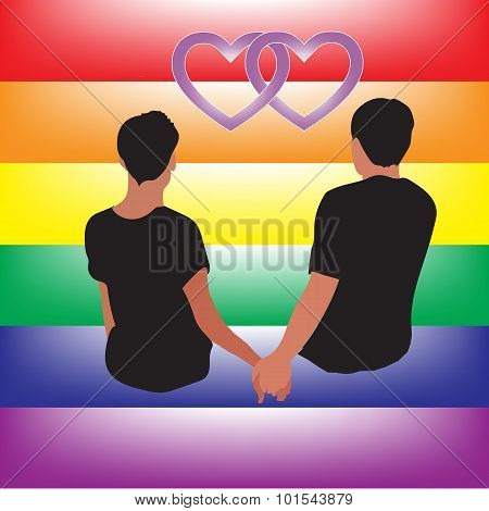Gay Couple Love Relationship