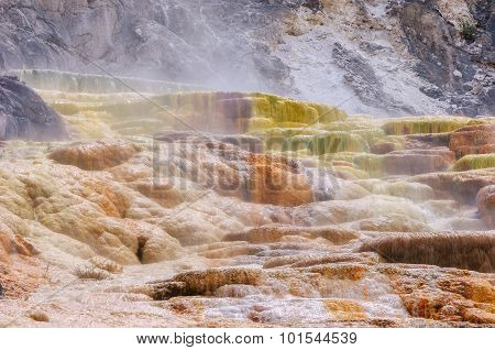 Palette falls in Yellowstone
