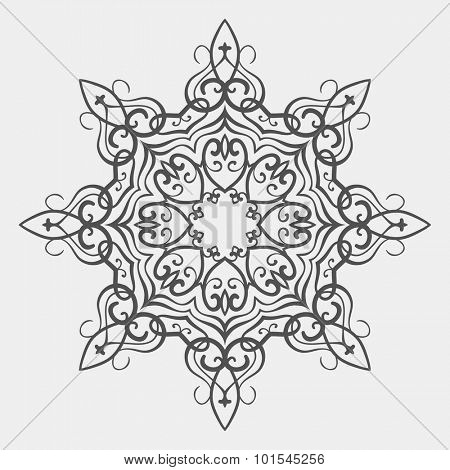 Kazakh national ornament, Isolated design element, Vector illustration
