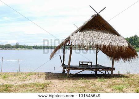 Gazebo Beside The Lake