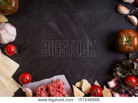 Set Of Ingredients For Italian Lasagne