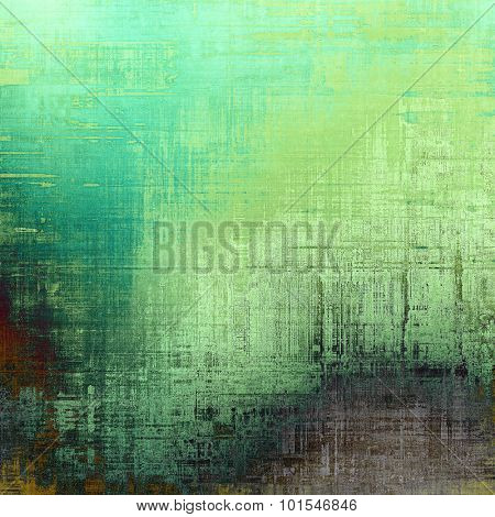 Old school textured background. With different color patterns: brown; blue; green; cyan