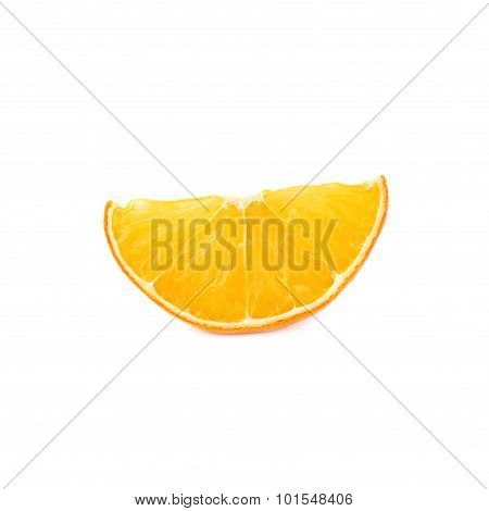 Dried slice section of orange isolated over the white background
