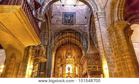 Avila Cathedral Basilica Altar Statue Mary Painting Spain
