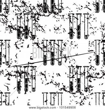 Test-tubes pattern, grunge, monochrome