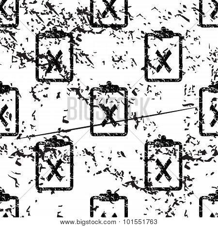 Negative result pattern, grunge, monochrome
