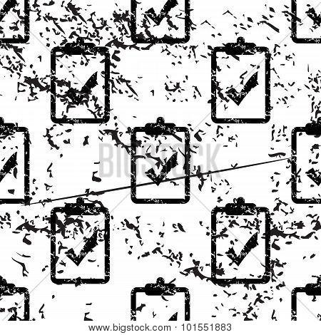 Positive result pattern, grunge, monochrome