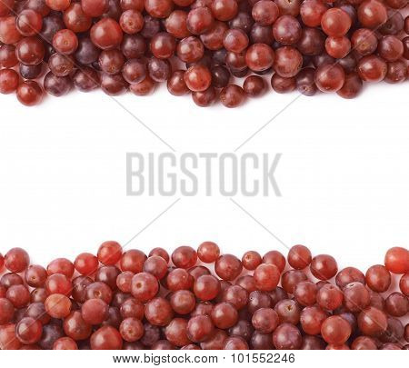 Dark red grapes composition