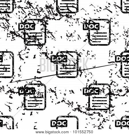 DOC document pattern, grunge, monochrome