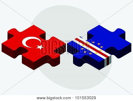 Turkey And Cabo Verde Flags