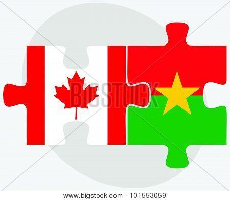 Canada And Burkina Faso Flags