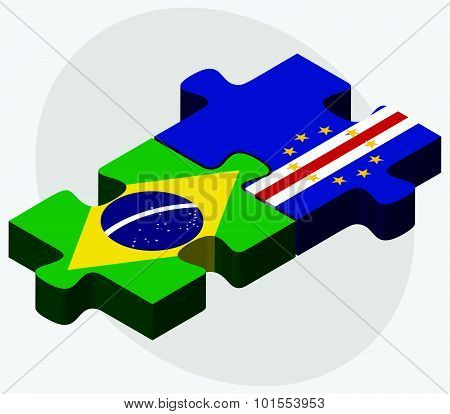 Brazil And Cabo Verde Flags