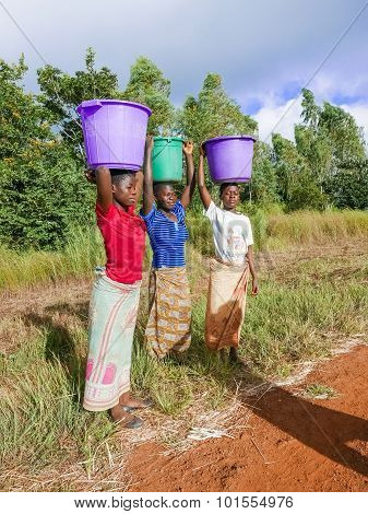 Three Woman In Malawi