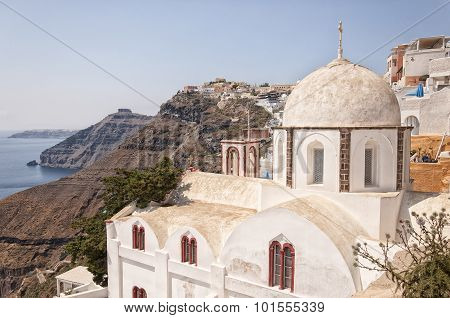 Fira Church On Santorini