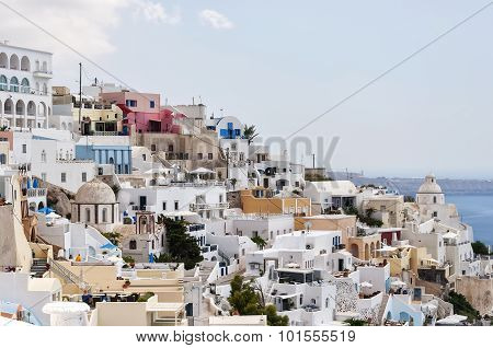 Santorini Fira Steep City View