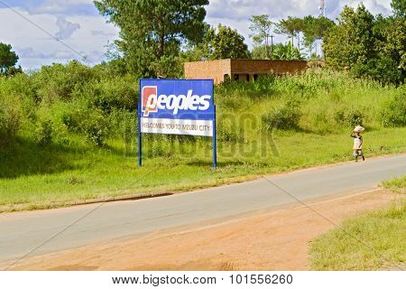 Welcome Sign, Mzuzu, Malawi