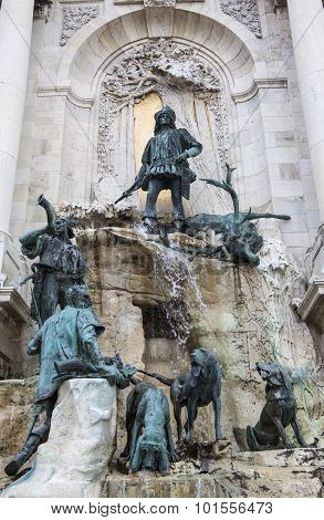 The Matthias Fountain In Buda Castle