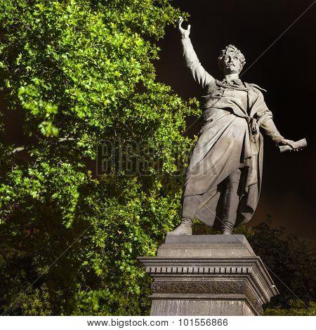 Sandor Petofi Statue In Budapest