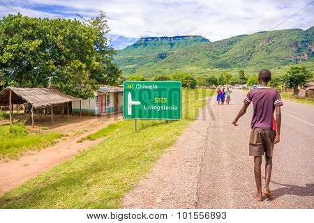Road In Khondowe, Malawi