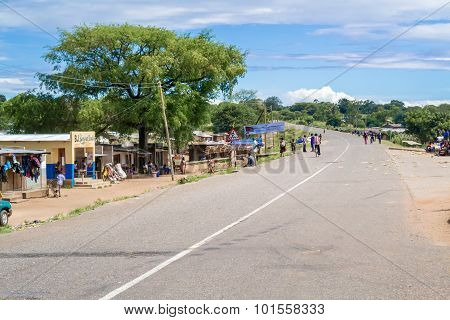 Village Of Ngara In Malawi