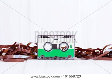 Cassette With Subtracted Out Tape