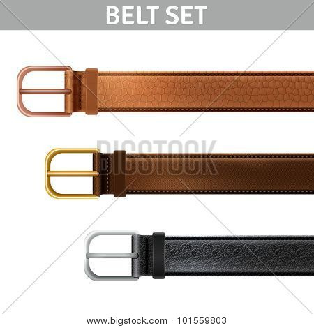 Realistic Belts Set