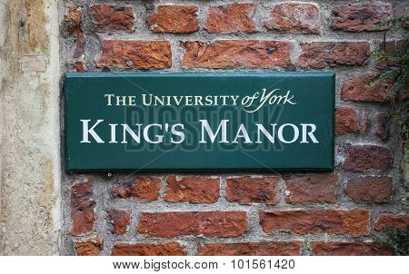 King's Manor In York