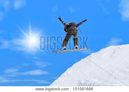 Jump With Snowboard