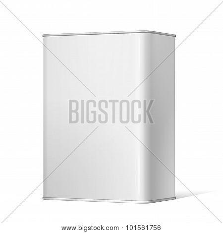 White Package Metal Box