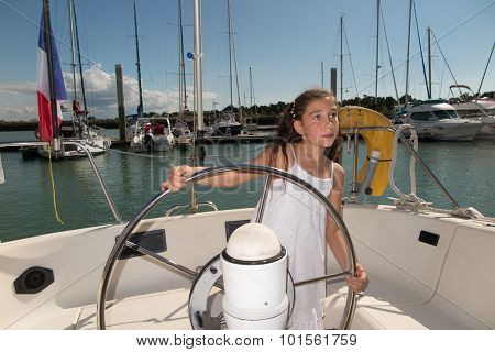 Young Captain Of A Sailing Ship