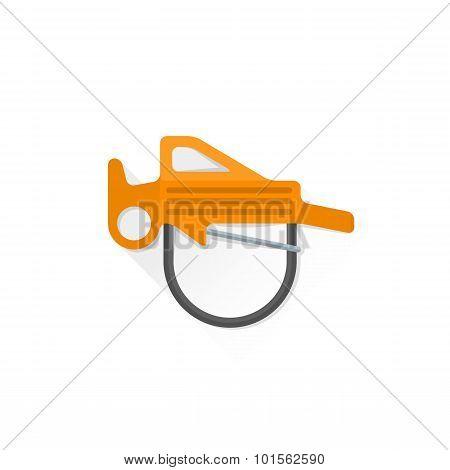 Color Alpinism Equipment Belay Rappel Icon Illustration.