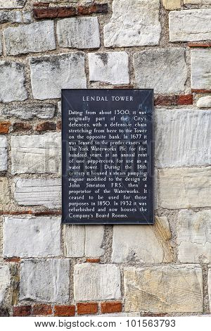 Lendal Tower In York