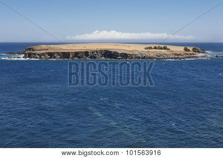 Azores Coastline Landscape. Topo Island And Atlantic Ocean. Sao Jorge